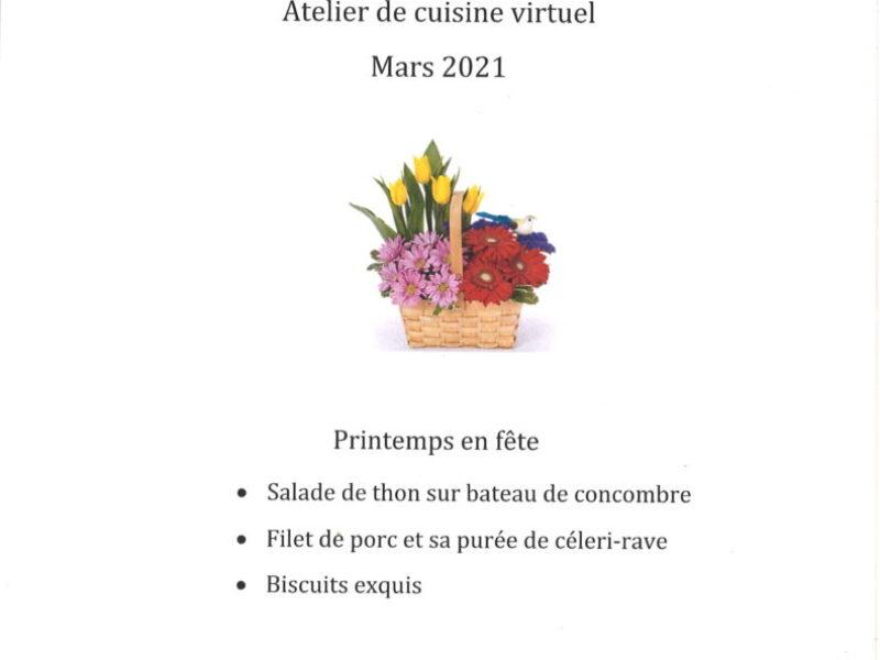 menu printemps